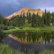 Tim Fitzharris - Red Mountain reflected in pond, San Juan Mountains, Colorado