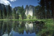 Tim Fitzharris - Granite reflecting in pool, Yosemite National Park, California