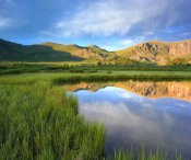 Tim Fitzharris - Mount Bierstadt from Guanella Pass reflected in pond, Colorado