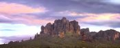 Tim Fitzharris - Panoramic view of the Superstition Mountains at sunset, Arizona