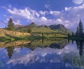 Tim Fitzharris - Grand Turk and Sultan Mountain reflected in Molas Lake, Colorado