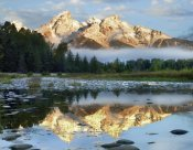 Tim Fitzharris - Pond reflecting Grand Tetons, Grand Teton National Park, Wyoming