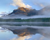 Tim Fitzharris - Morning light on Mt Kidd as seen from Wedge Pond, Alberta, Canada