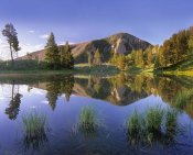 Tim Fitzharris - Bunsen Peak reflected in lake, Yellowstone National Park, Wyoming