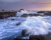 Tim Fitzharris - Waves crashing on rocky shore, Wawaloli Beach, Big Island, Hawaii
