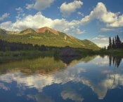 Tim Fitzharris - Avery Peak reflected in beaver pond, San Juan Mountains, Colorado