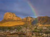 Tim Fitzharris - Rainbow near El Capitan, Guadalupe Mountains National Park, Texas