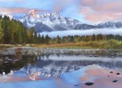 Tim Fitzharris - Grand Tetons reflected in lake, Grand Teton National Park, Wyoming