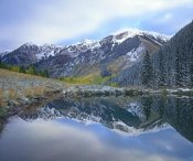 Tim Fitzharris - Pond and mountains, Maroon Bells-Snowmass Wilderness Area, Colorado