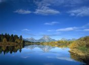 Tim Fitzharris - Mt Moran reflected in Oxbow Bend, Grand Teton National Park, Wyoming