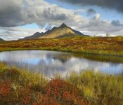 Tim Fitzharris - Pond and Ogilvie Mountains, Tombstone Territorial Park, Yukon, Canada