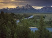 Tim Fitzharris - Teton Range at Snake River Overlook, Grand Teton National Park, Wyoming