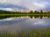 Tim Fitzharris - Mountains in the Weminuche Wilderness reflected in Molas Lake, Colorado