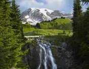Tim Fitzharris - Myrtle Falls and Mount Rainier, Mount Rainier National Park, Washington