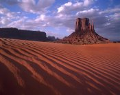 Tim Fitzharris - East and West Mittens, buttes with rippled sand, Monument Valley, Arizona