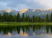 Tim Fitzharris - West Needle Mountains reflected in Molas Lake, Weminuche Wilderness, Colorado