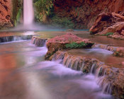 Tim Fitzharris - Mooney Falls cascading into Havasu Creek, Grand Canyon National Park, Arizona