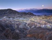 Tim Fitzharris - Full moon rising over Zabriskie Point, Death Valley National Park, California