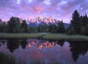 Tim Fitzharris - Teton Range at sunrise, Schwabacher Landing, Grand Teton National Park, Wyoming
