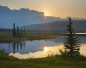 Tim Fitzharris - Sunset over Miette Range and Talbot Lake, Jasper National Park, Alberta, Canada