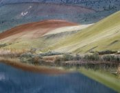 Tim Fitzharris - Painted Hills reflected in water, John Day Fossil Beds National Monument, Oregon