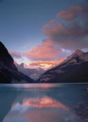 Tim Fitzharris - Alpenglow, Lake Louise and Victoria Glacier, Banff National Park, Alberta, Canada