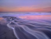 Tim Fitzharris - Fresh water stream flowing into the Pacific Ocean, Zuma Beach, Malibu, California