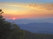 Tim Fitzharris - Sunset over the Pisgah National Forest from the Blue Ridge Parkway, North Carolina