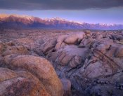 Tim Fitzharris - View of Sierra Nevada Range as seen from boulder field in Alabama Hills, California