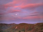 Tim Fitzharris - Moon over Blue Ridge Range and Lost Cove Cliffs, Blue Ridge Parkway, North Carolina