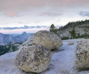 Tim Fitzharris - Granite boulders and Half Dome at Olmsted Point, Yosemite National Park, California