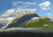 Tim Fitzharris - Mt Kidd with slopes covered in coniferous forest, Kananaskis Country, Alberta, Canada
