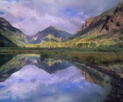 Tim Fitzharris - Handies Peak reflected in beaver pond, Maroon Bells-Snowmass Wilderness Area, Colorado
