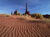 Tim Fitzharris - Totem pole and Yei Bi Chei with sand dunes, Monument Valley Navajo Tribal Park, Arizona