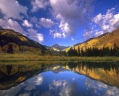 Tim Fitzharris - Haystack Mountain reflected in beaver pond, Maroon Bells, Snowmass Wilderness, Colorado