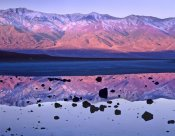 Tim Fitzharris - Panamint Range reflected in standing water at Badwater, Death Valley National Park, California