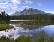 Tim Fitzharris - Mount Rundle and boreal forest reflected in Johnson Lake, Banff National Park, Alberta, Canada
