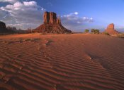 Tim Fitzharris - The east and west Mittens surrounded by rippled sand, Monument Valley Navajo Tribal Park, Arizona