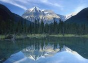 Tim Fitzharris - Mt Robson, highest peak in the Canadian Rocky Mountains, reflected in lake, British Columbia, Canada