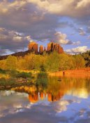 Tim Fitzharris - Cathedral Rock reflected in Oak Creek at Red Rock Crossing, Red Rock State Park near Sedona, Arizona