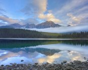 Tim Fitzharris - Pyramid Mountain and boreal forest reflected in Patricia Lake, Jasper National Park, Alberta, Canada
