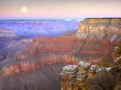 Tim Fitzharris - Full moon over the Grand Canyon at sunset as seen from Pima Point, Grand Canyon National Park, Arizona