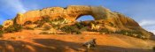 Tim Fitzharris - Wilson Arch with a span of 91 feet and height of 46 feet, made of entrada sandstone, Utah