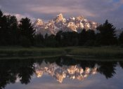 Tim Fitzharris - Grand Teton Range and cloudy sky at Schwabacher Landing, reflected in the water, Grand Teton National Park, Wyoming