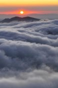 Albert Lleal - Sunrise over mountain and clouds, Spain
