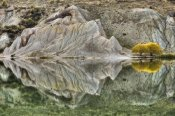Colin Monteath - Reflection on Blue Lake, St Bathans, Central Otago, New Zealand