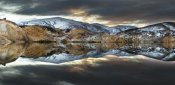 Colin Monteath - Reflections of cliffs on Blue Lake, St. Bathans, central Otago, New Zealand