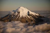 Colin Monteath - Mount Taranaki showing western flanks of dormant volcano above clouds, New Zealand