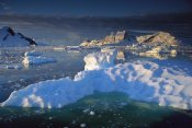 Colin Monteath - Evening light on ice floes and peaks in Paradise Bay, Antarctic Peninsula, Antarctica