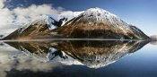 Colin Monteath - Mountains reflecting in Lake Pearson in winter, Castle Hill Basin, Canterbury, New Zealand